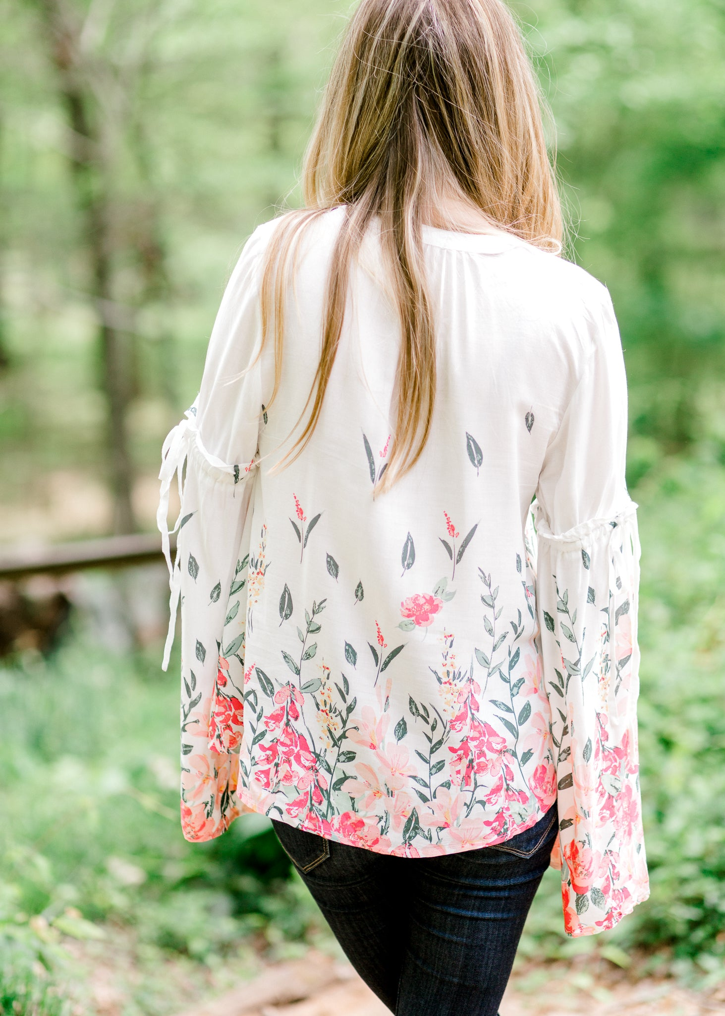 Daydreams Floral Bell Sleeve Top