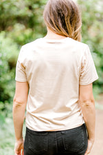 taupe desert top back view - epiphany boutiques