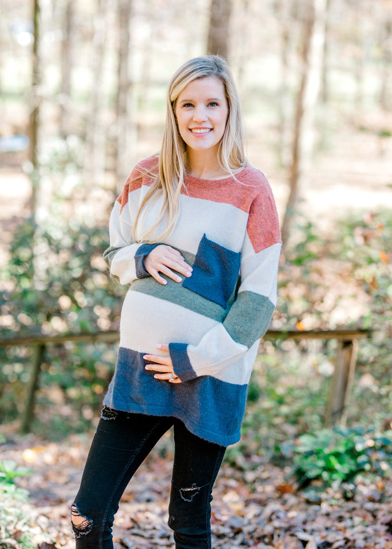 X The Dilly Dally Sweater for the Bump