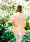 soft coral top back view - epiphany boutiques