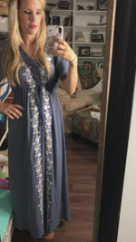 X It's Love Blue Maxi Dress