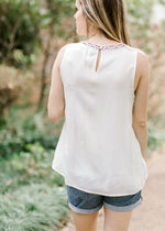 embroidered top back view - epiphany boutiques