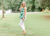 sleeveless green fern top - epiphany boutiques