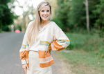 stripe long sleeve cardigan - epiphany boutiques