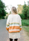 striped cardigan back view - epiphany boutiques