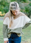 color block sweater - epiphany boutiques