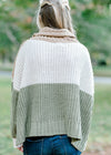 chenille color block sweater - epiphany boutiques