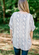 snakeskin top back view - epiphany boutiques