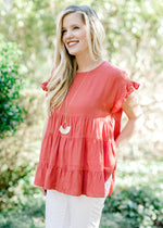 ginger colored top - epiphany boutiques