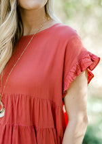 ginger top with ruffles - epiphany boutiques
