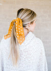 golden dot bandana scrunchie - epiphany boutiques