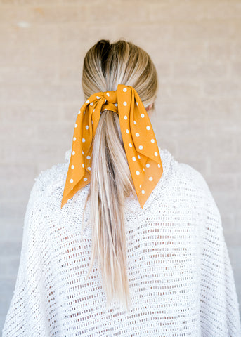 Golden Dot Bandana Scrunchie