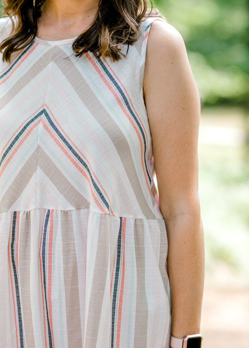 X Good Feeling Striped Tunic