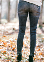 gray distressed skinny jeans - epiphany boutiques