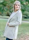 gray coat with lapels - epiphany boutiques