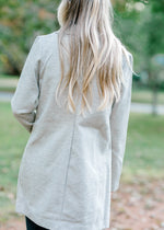 gray coat back view - epiphany boutiques