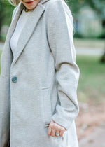 gray coat with pockets - epiphany boutiques