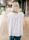 grey and white modified leopard print top - epiphany boutiques