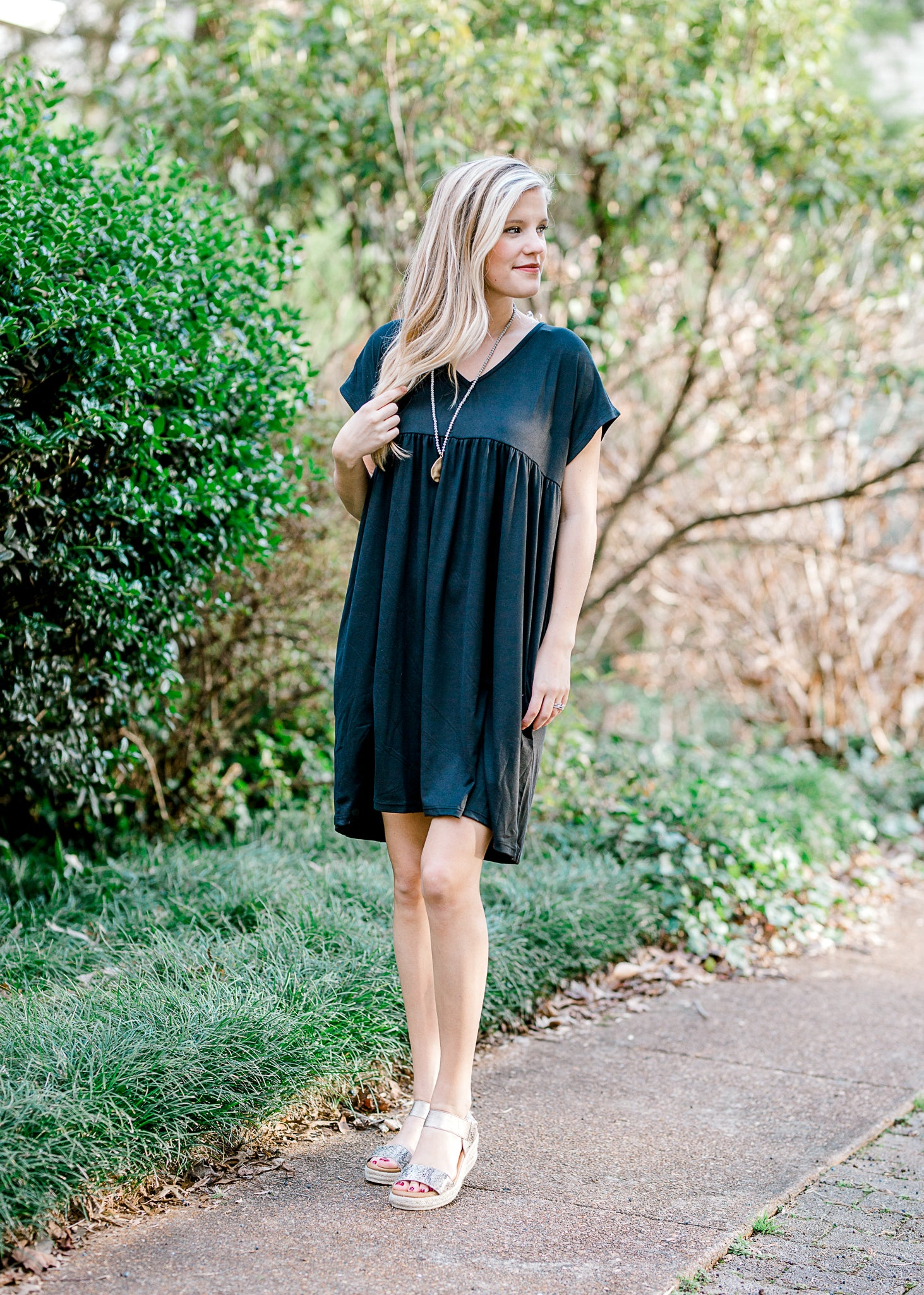 Haley Black Babydoll Dress