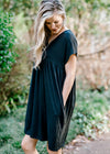 black dress with pockets - epiphany boutiques