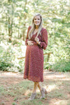 Harvest Moon Rust Dress for the Bump