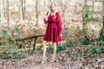 Heart's Afire Red Textured Dress