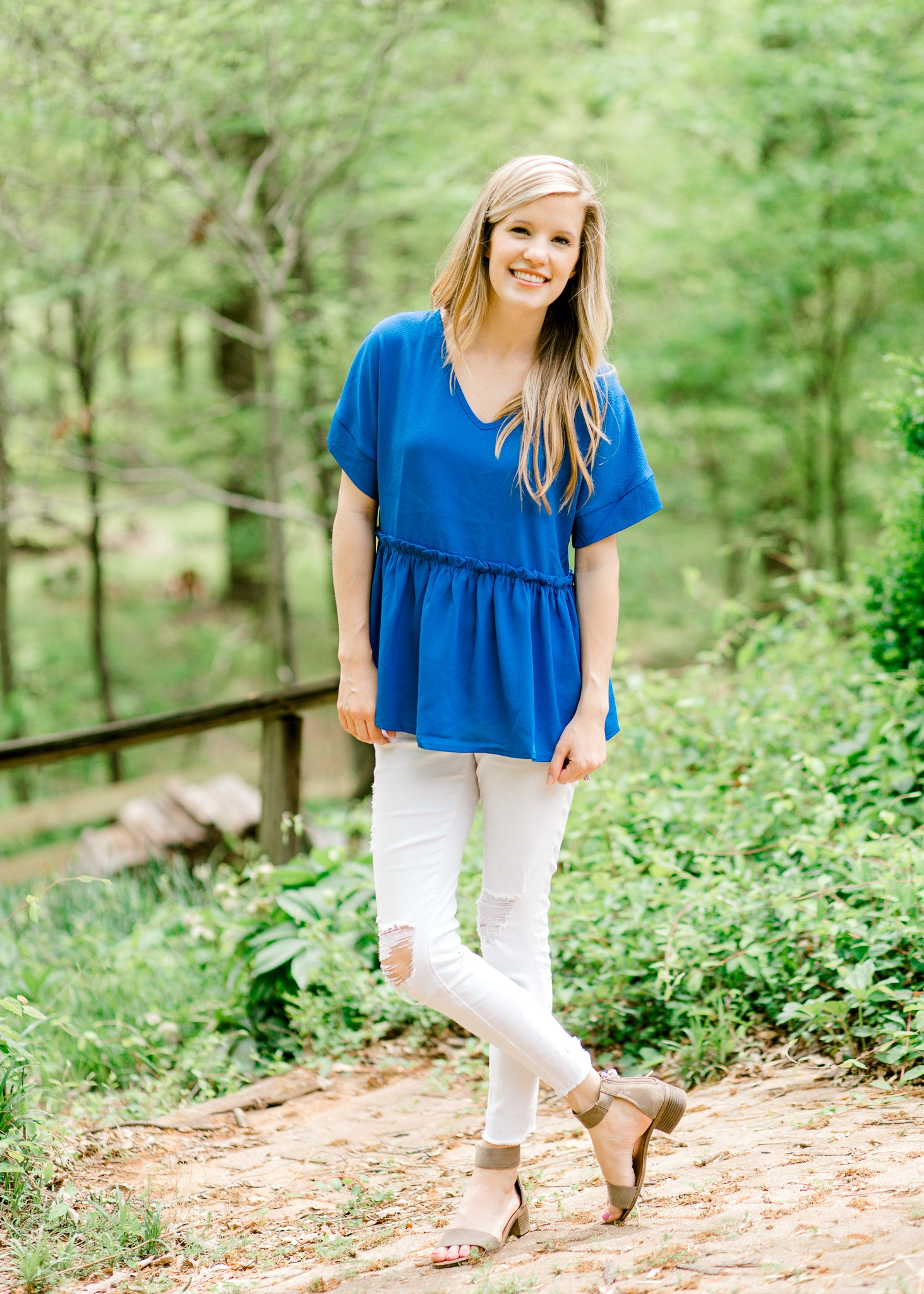 royal blue top - epiphany boutiques