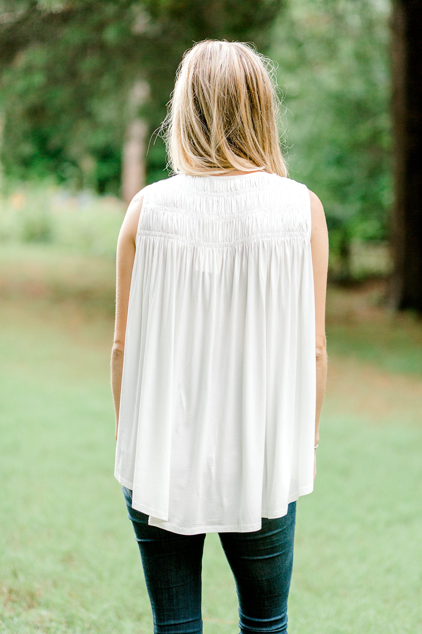 Icing Smocked Sleeveless Top