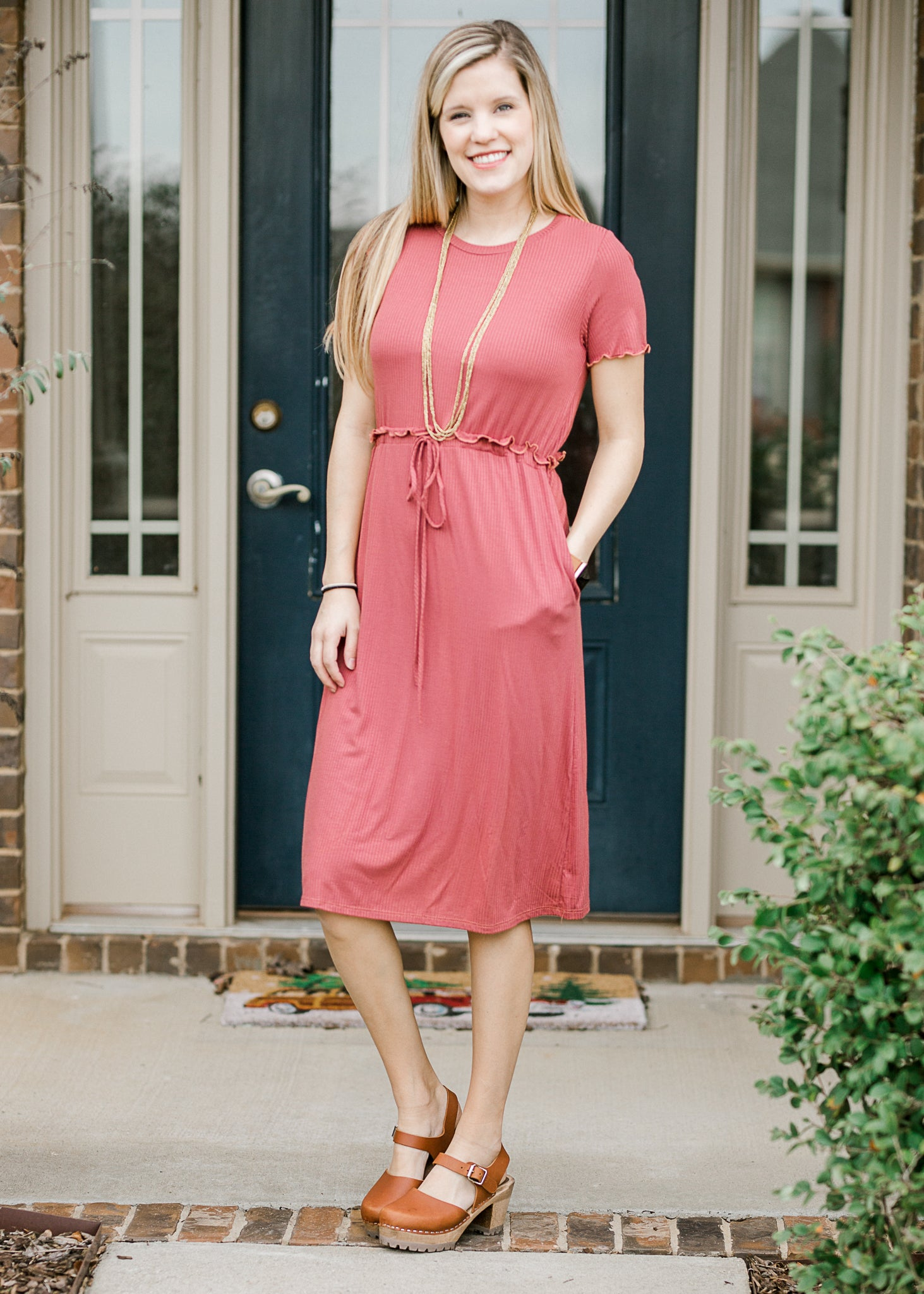 It's Easy Dress in Marsala