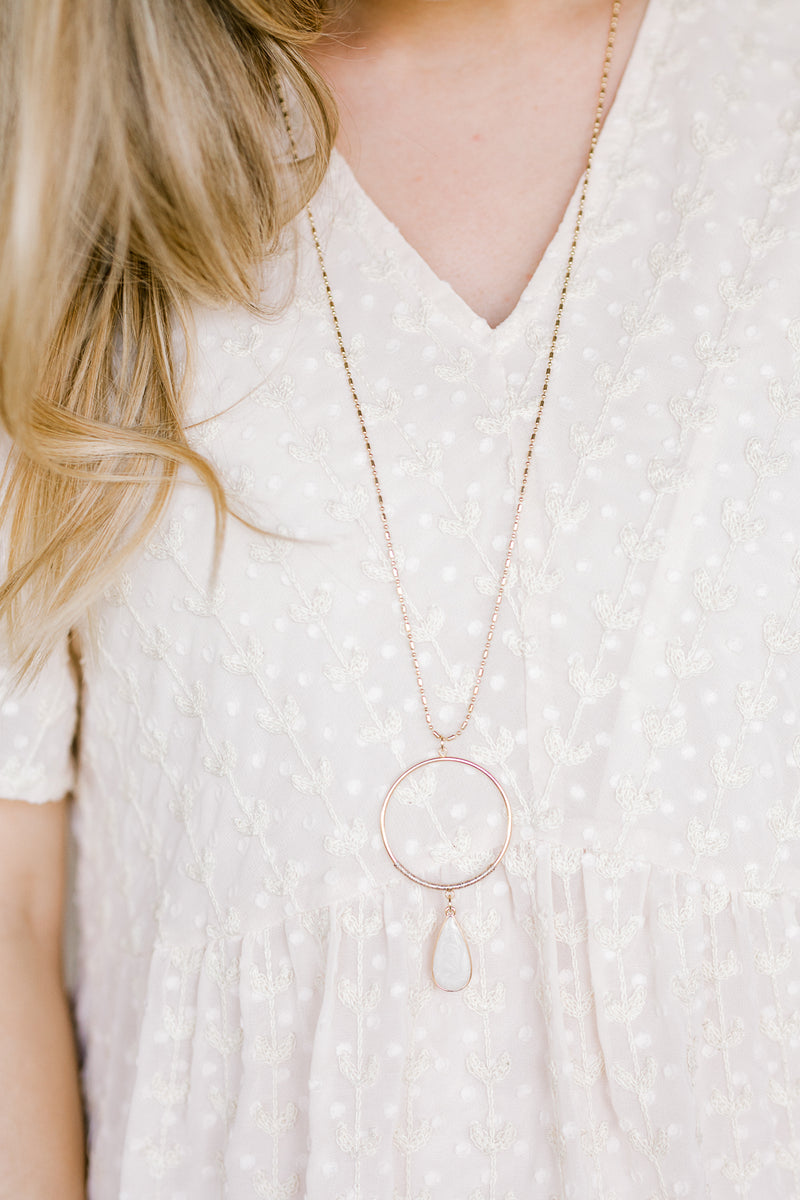 necklace with a teardrop - epiphany boutiques