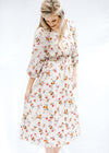 midi dress with flowers - epiphany boutiques