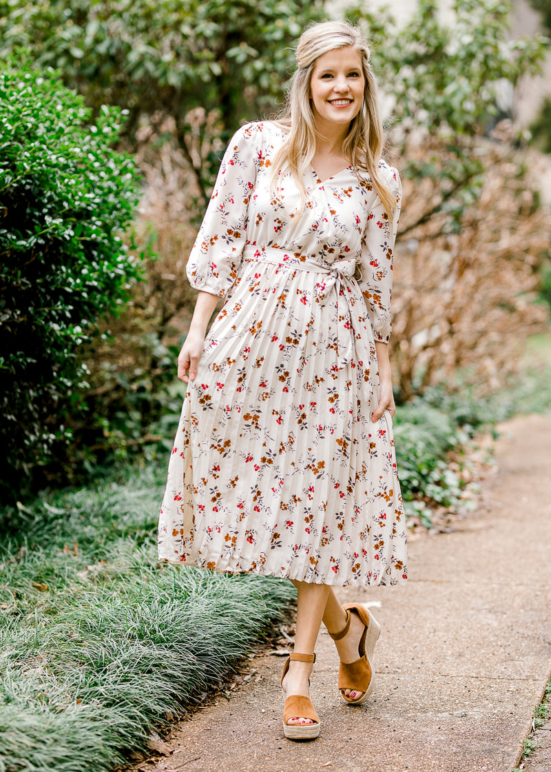 floral printed midi dress - epiphany boutiques