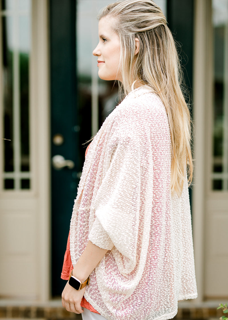 elbow length cardigan side picture - epiphany boutiques