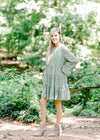 jade green long sleeve dress - epiphany boutiques