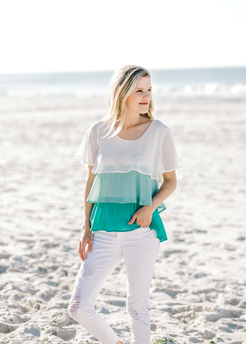 short sleeve jade top -  epiphany boutiques