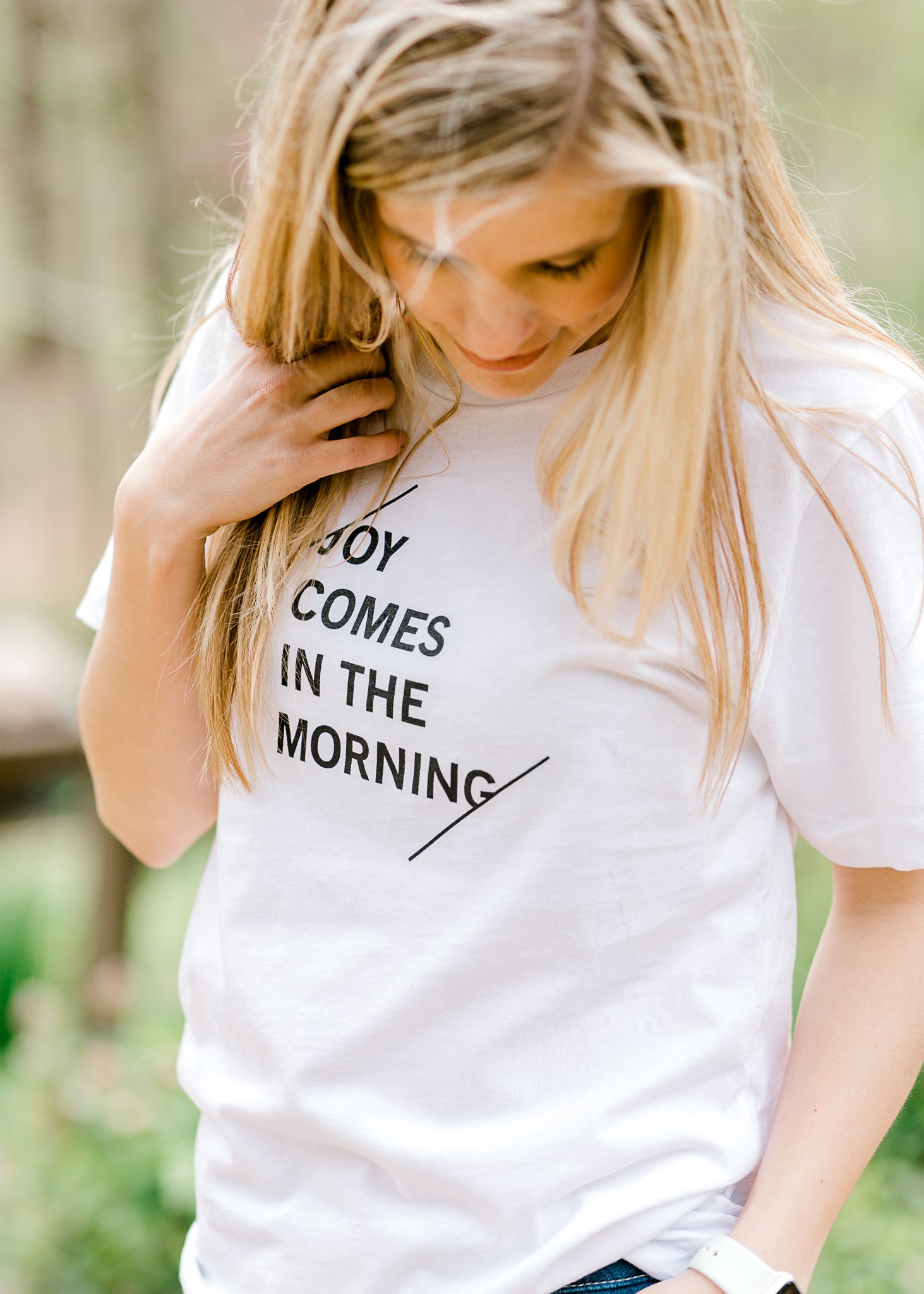 B Joy Comes in the Morning Tee