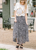 black and white midi skirt - epiphany boutiques