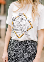 black graphic wildflower tee - epiphany boutiques