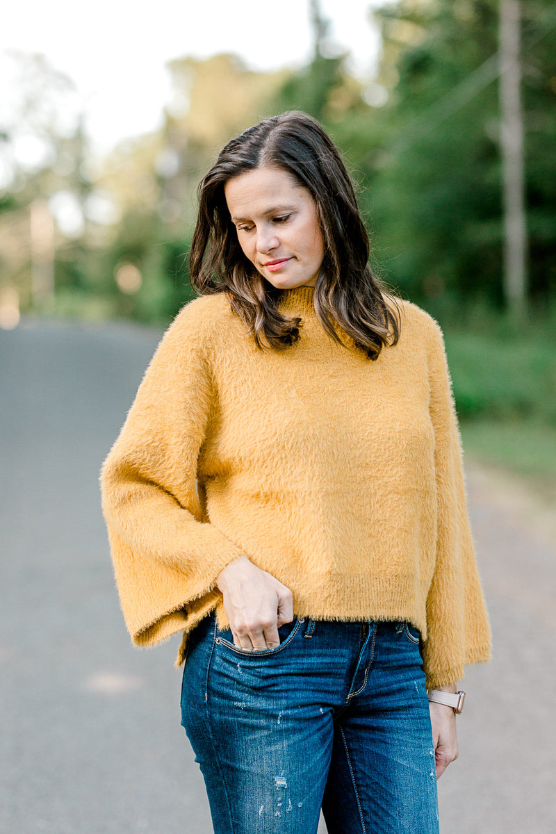 Kindly Meant Mustard Sweater
