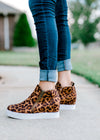 B Leopard Hidden Wedge Sneaker