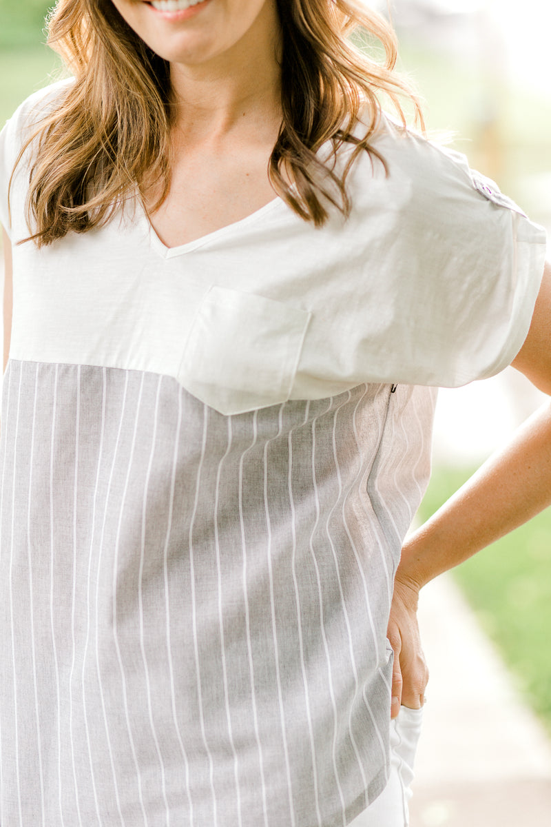 summer top with pocket - epiphany boutiques