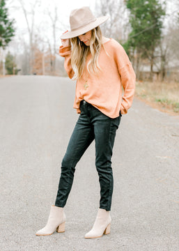 Light Clay Boatneck Top