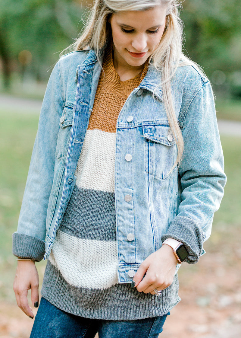 long sleeve denim jacket - epiphany boutiques