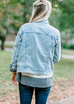 denim jacket back view - epiphany boutiques