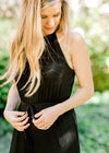 pleated top black jumpsuit - epiphany boutiques
