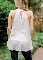 racerback white lace top - epiphany boutiques