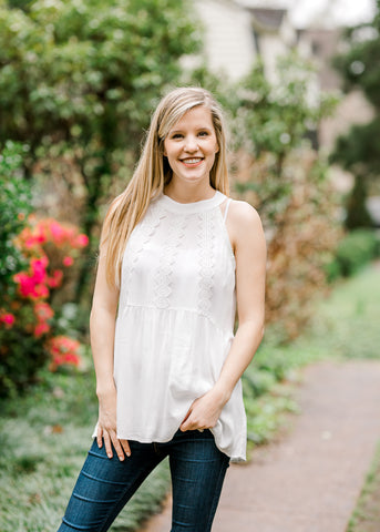 white lace top - epiphany boutiques
