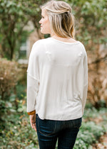 long sleeve ivory back view - epiphany boutiques