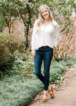 knit top in ivory - epiphany boutiques