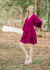 X Marvelous Magenta Dress for the Bump